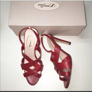 Red SJP sandals 7,5  narrow. Nordstrom exclusive